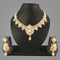 Sai Raj Kundan AD Copper Gold Plated Necklace Set