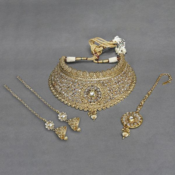 Sai Raj AD Stone Copper Necklace Set With Maang Tikka - FAP0076A