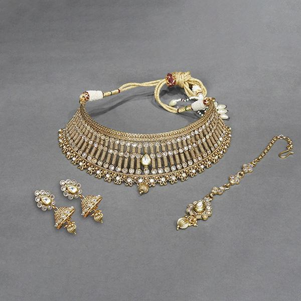 Sai Raj AD Stone Copper Necklace Set With Maang Tikka - FAP0079A