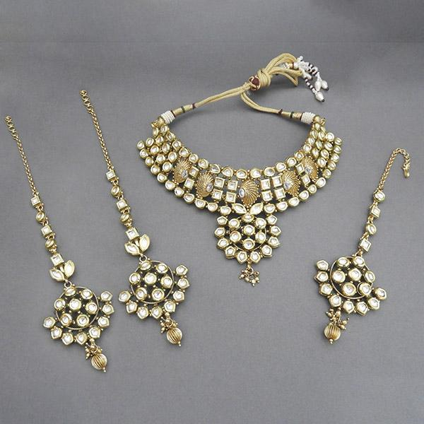 Sai Raj AD Stone Copper Necklace Set With Maang Tikka - FAP0081A