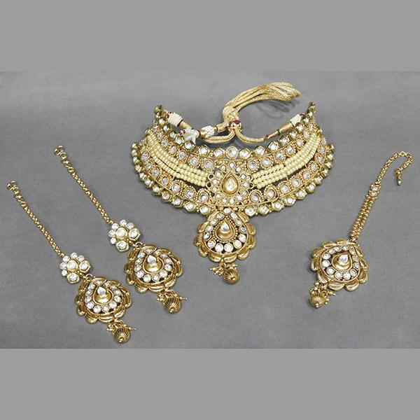 Sai Raj AD Stone Copper Necklace Set With Maang Tikka - FAP0083A