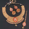 Sai Raj AD Stone Copper Necklace Set With Maang Tikka - FAP0140A