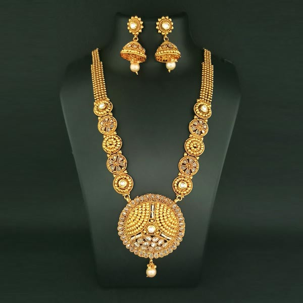 Sai Raj AD Stone Copper Necklace Set