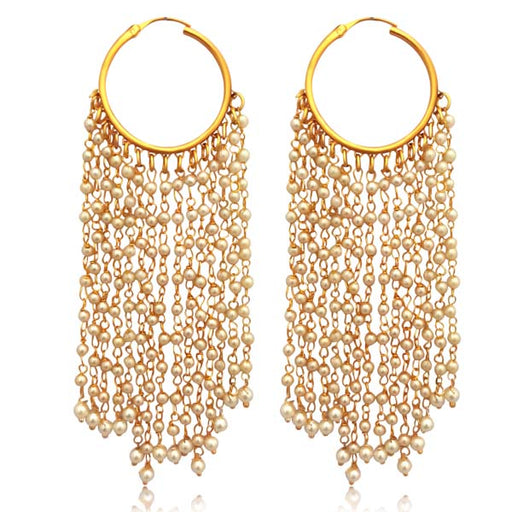 Sai Raj Pearl Copper Dangler Earrings