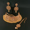 Sai Raj AD Stone Choker Copper Necklace Set With Maang Tikka - FAP0222