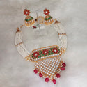 Sai Raj Pearl Copper Necklace Set