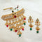 Sai Raj AD Stone Choker Copper Necklace Set