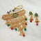 Sai Raj Green AD Stone Choker Copper Necklace Set