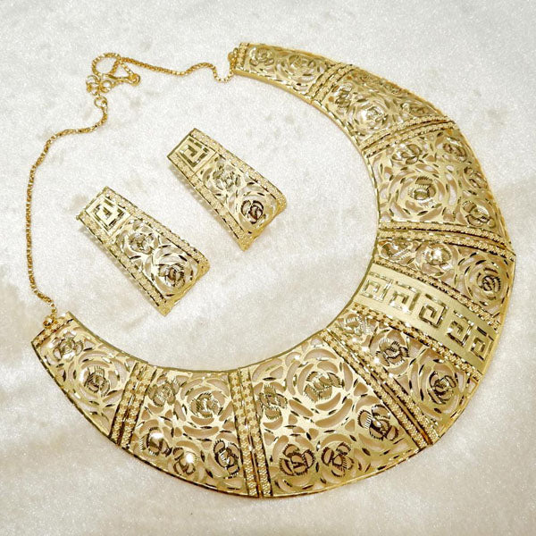 Neu Gold Forming Gold Plated Necklace Set