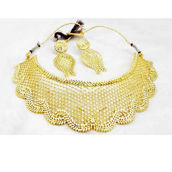 Native Haat Forming Gold Plated Choker Copper Necklace Set - N1107835