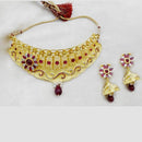 Native Haat Forming Gold Plated Copper Necklace Set - N1107839