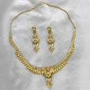Native Haat Forming Gold Plated Copper Necklace Set - N1107877