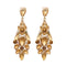 Yoona Champagne Crystal Stone Gold Plated Dangler Earring