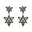 Yoona Black Austrian Stone Oxidised Dangler Earring