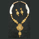 Bajrang Kundan Pearl Copper Necklace Set
