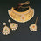 Bajrang Arrts Copper Pearl Necklace Set With Maang Tikka