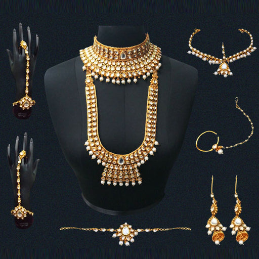 Real Creation AD Kundan Copper Bridal Jewellery Set