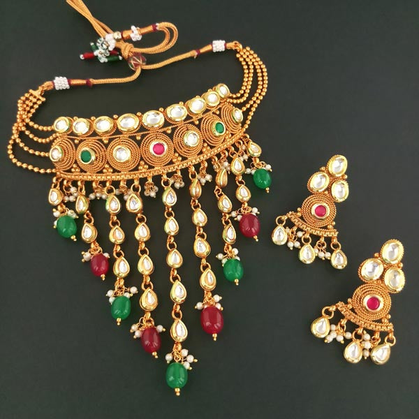 Real Creation Kundan Copper Necklace Set