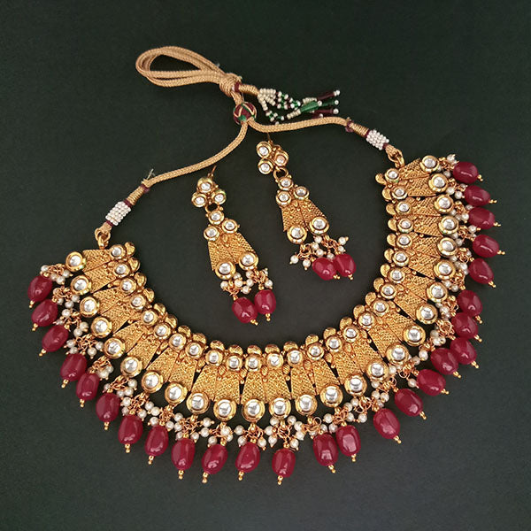 Real Creation Kundan Stone Copper Necklace Set