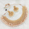 Real Creation White Beads Copper Necklace Set