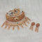 Real Creation AD Stone Copper Choker Necklace Set