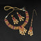 Real Creation AD Stone Choker Copper Necklace Set