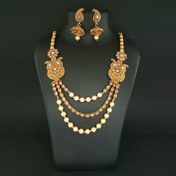Ganpati Arts Stone Beads Copper Necklace Set