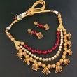 Ganpati Arts Kundan & Beads Copper Necklace Set