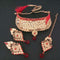 Shreeji Creation Stone Copper Necklace Set With Maang Tikka