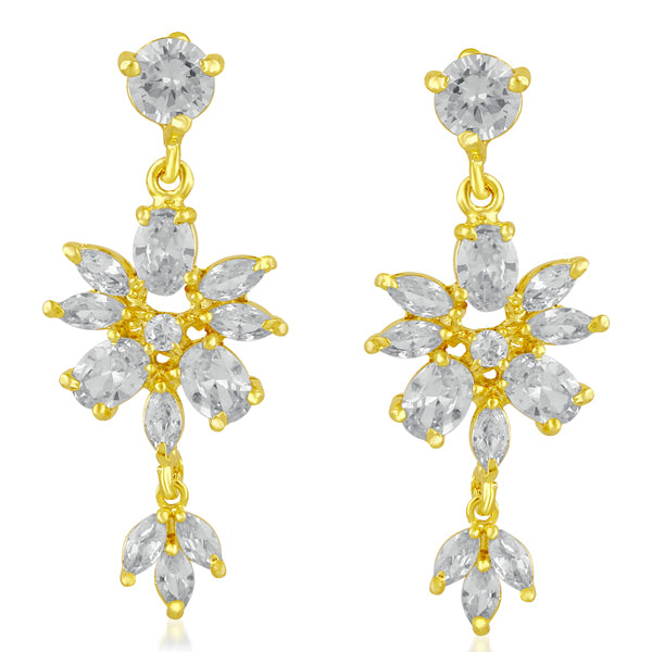 Suhagan AD Stone Gold Plated Dangler Earrings