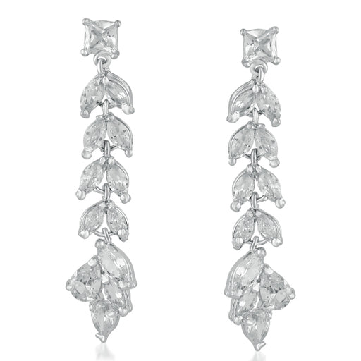 Suhagan Silver Plated AD Stone Dangler Earrings