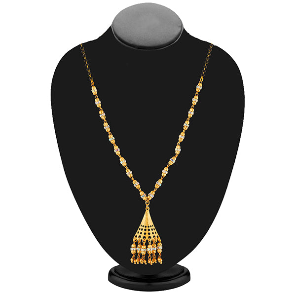 Umiyaji Black Beads Gold Plated Stone Mangalsutra