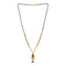 Kriaa White Austrian Stone And Black Beads Gold Plated Mangalsutra - FBG0052B