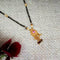 Kriaa Pink And White Austrian Stone Gold Plated Heart Shape Mangalsutra - FBG0060A