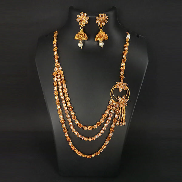 Nikita Arts AD Stone Copper Necklace Set