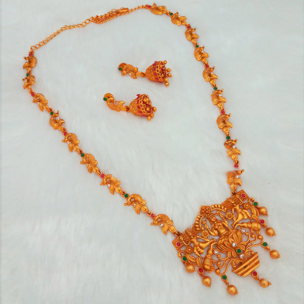 Shubham Pota Stone Copper Necklace Set