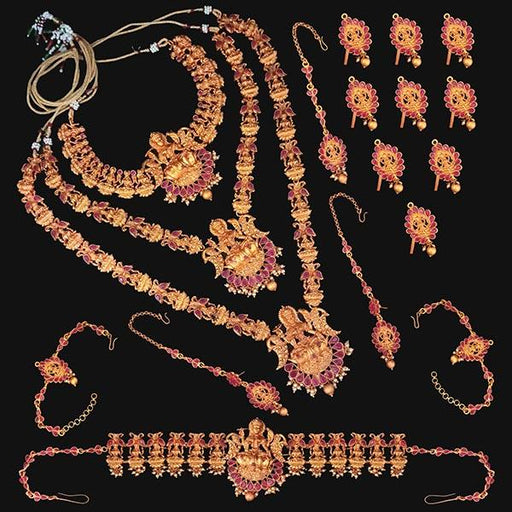 Shubham Pota Stone Copper Bridal Jewellery Set - FBK0054A