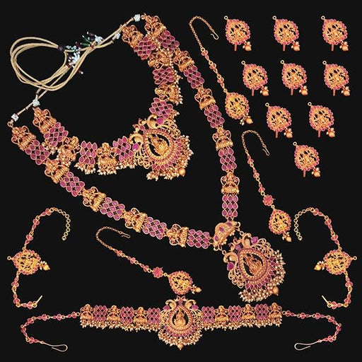 Shubham Pota Stone Copper Bridal Jewellery Set - FBK0057A