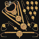 Shubham Pota Stone Copper Bridal Jewellery Set - FBK0091A
