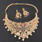 Pralhad American Diamond Pearl Brass Necklace Set