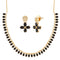 Pralhad Black Pota Stone Brass Necklace Set