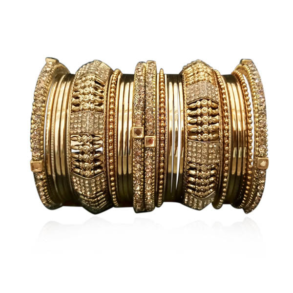 Sejal Austrian Stone Gold Plated Bangle Set