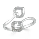 Mahi Dual Heart Adjustable Finger ring