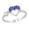 Mahi Trio Heart Adjustable Finger Ring