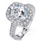 Mahi Rhodium Plated Elegant Adjustable Ring with Cubic Zirconia Solitare for Women