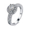 Mahi Rhodium Plated Elegant Cubic Zirconia Solitare Royal Queen Designer Ring for Women