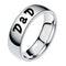 Mahi Rhodium Plated Exclusive Casual Designer Finger Ring For Dad
