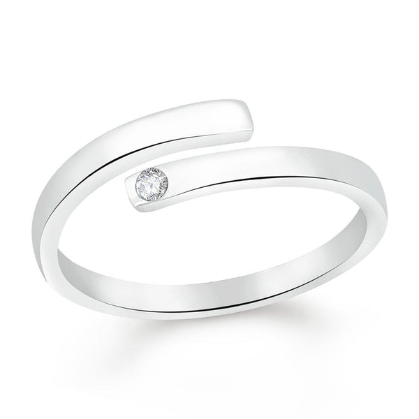 Mahi Valentine Gift Enchanting Solitaire CZ Finger Ring
