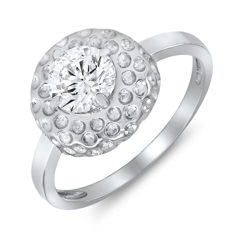 Mahi Eloquent Finger Ring With Swarovski Zirconia