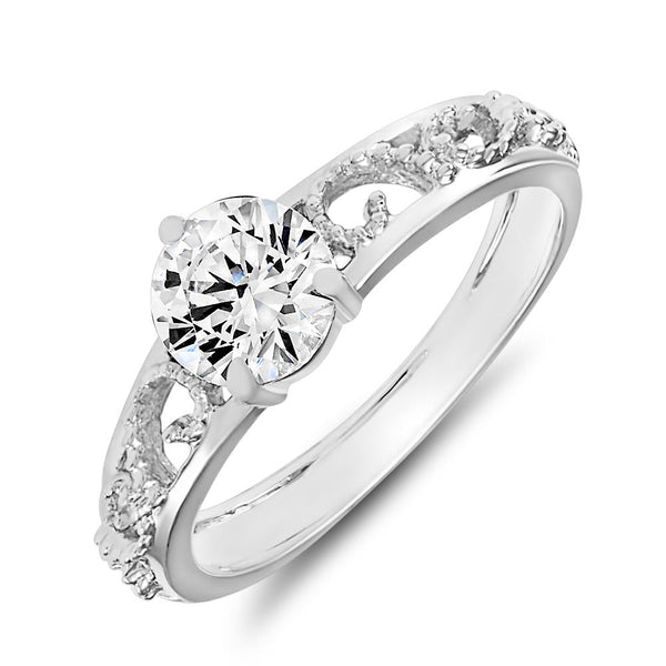 Mahi Remarkable Solitaire Ring With Swarovski Zirconia